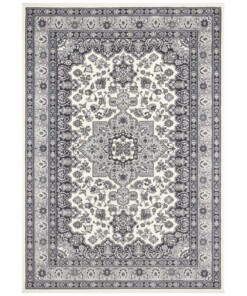 Perzisch tapijt Parun Täbriz - grijs - overzicht boven
