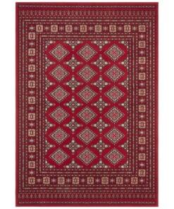 Klassiek vloerkleed Sao Buchara - rood - overzicht boven