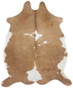 Dierenhuid vloerkleed Optik Chester - crème/bruin - overzicht boven