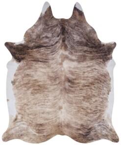 Dierenhuid vloerkleed  Optik Milton - crème/bruin - overzicht boven