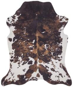 Dierenhuid vloerkleed Optik Murray - crème/bruin - overzicht boven