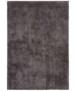 Handgetuft hoogpolig vloerkleed Supersoft - lichtgrijs - overzicht boven, thumbnail