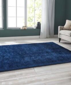Handgetuft hoogpolig vloerkleed Supersoft - blauw - sfeer, thumbnail