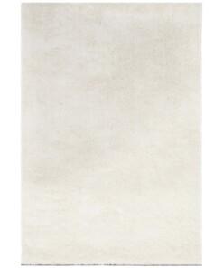 Handgetuft hoogpolig vloerkleed Supersoft - crème - overzicht boven