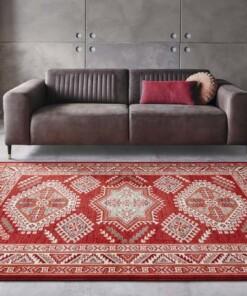 Klassiek vloerkleed Saricha Belutsch - rood - sfeer, thumbnail