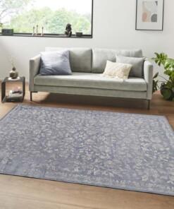 Oosters vloerkleed Mahal - jeansblauw/zilver - sfeer, thumbnail