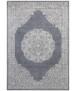 Oosters vloerkleed Floral Orient - jeansblauw/zilver - overzicht boven, thumbnail