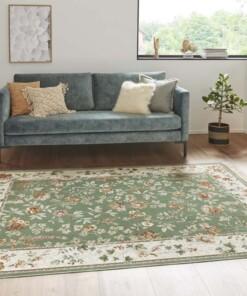 Klassiek vloerkleed Oriental Flowers - groen - sfeer, thumbnail