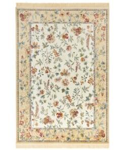 Klassiek vloerkleed Oriental Flowers - crème/multi - overzicht boven