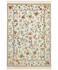 Klassiek vloerkleed Oriental Flowers - crème - overzicht boven