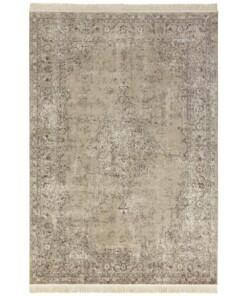 Vintage vloerkleed Oriental - olijfgroen - overzicht boven