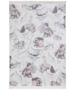Klassiek vloerkleed Comtemporary Flowers - crème - overzicht boven