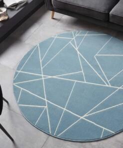 Rond vloerkleed Geometrical - lichtblauw - sfeer, thumbnail
