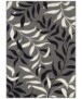 Vloerkleed bladeren - crème/roze - overzicht boven, thumbnail