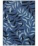 Vloerkleed bladeren - grijs - overzicht boven, thumbnail