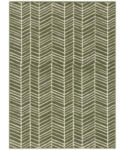 Vloerkleed zig-zag Brick Wall - olijfgroen - overzicht boven