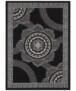 Vloerkleed retro bloem - bruin - overzicht boven, thumbnail