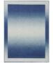 Vloerkleed retro lijstmotief Gradient - lichtbruin - overzicht boven, thumbnail