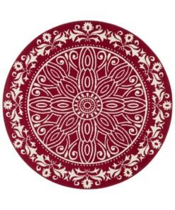 Rond vloerkleed Flos - rood - overzicht boven