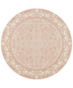 Rond vloerkleed Flos - roze - overzicht boven