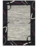 Vloerkleed retro lijstmotief - grijs/okergeel - overzicht boven, thumbnail