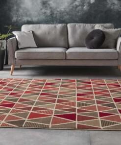 Vloerkleed triangle design - rood - sfeer, thumbnail