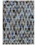 Vloerkleed triangle design - grijs/okergeel - overzicht boven, thumbnail