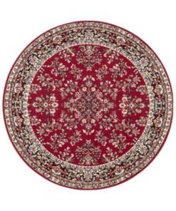 Rond oosters vloerkleed Orientis - rood - overzicht boven