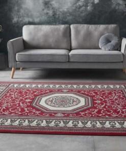 Vloerkleed retro oriental - rood - sfeer, thumbnail