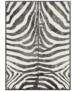 Vloerkleed zebra - bruin - overzicht boven, thumbnail