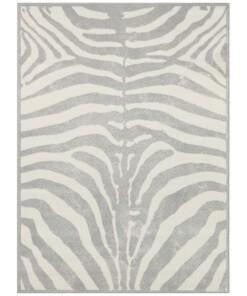 Vloerkleed zebra - grijs/crème - overzicht boven