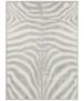 Vloerkleed zebra - zwart/wit - overzicht boven, thumbnail
