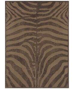 Vloerkleed zebra - bruin - overzicht boven