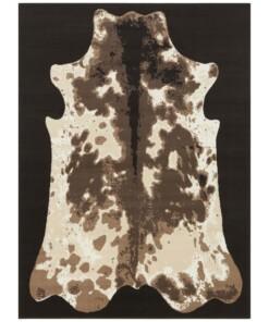 Vloerkleed koeienhuid -zwart - overzicht boven
