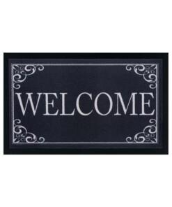 Design deurmat Classic Welcome wasbaar 30°C - antraciet - overzicht boven