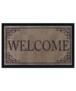 Design deurmat Classic Welcome wasbaar 30°C - antraciet - overzicht boven, thumbnail