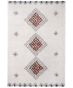 Hoogpolig vloerkleed Cassia - crème - overzicht boven, thumbnail