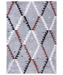 Hoogpolig vloerkleed Lark - grijs - overzicht boven, thumbnail