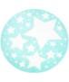 Rond vloerkleed kinderkamer Sterren 3D - grijs/crème - overzicht boven, thumbnail