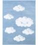 Vloerkleed kinderkamer Wolken 3D - roze - overzicht boven, thumbnail