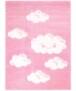 Vloerkleed kinderkamer Wolken 3D - blauw - overzicht boven, thumbnail