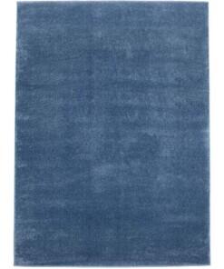 Effen vloerkleed velours Gala - donkerblauw - overzicht boven