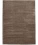 Effen vloerkleed velours Gala - donkergrijs - overzicht boven, thumbnail