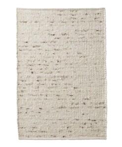 Wollen vloerkleed handweef Oslo - crème - overzicht boven