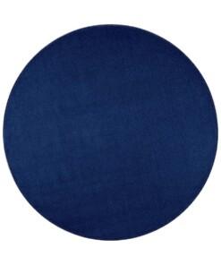 Rond effen vloerkleed Nasty - donkerblauw - overzicht boven