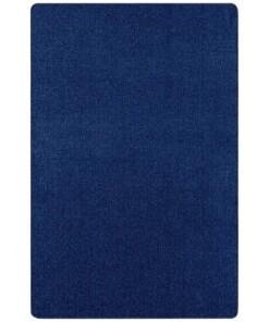 Effen vloerkleed Nasty - donkerblauw - overzicht boven