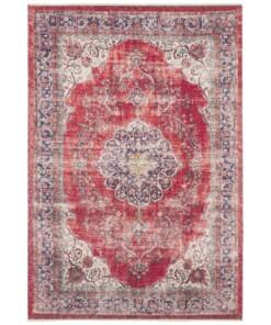 Oosters vloerkleed Tabriz Mahan - rood/crème - overzicht boven