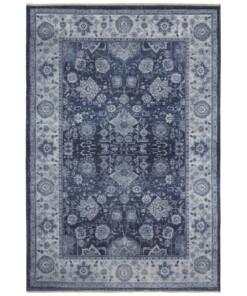 Oosters vloerkleed Maschad Chora- blauw - overzicht boven