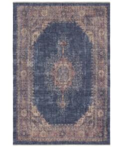 Oosters vloerkleed Hamadan Shavari - blauw - overzicht boven