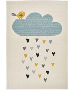 Kinderkamer vloerkleed Lovely Rainfall - crème/multi - overzicht boven, thumbnail